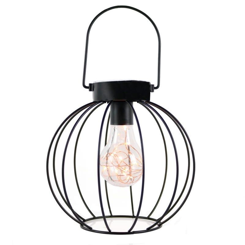 Round Metal Lantern - Black