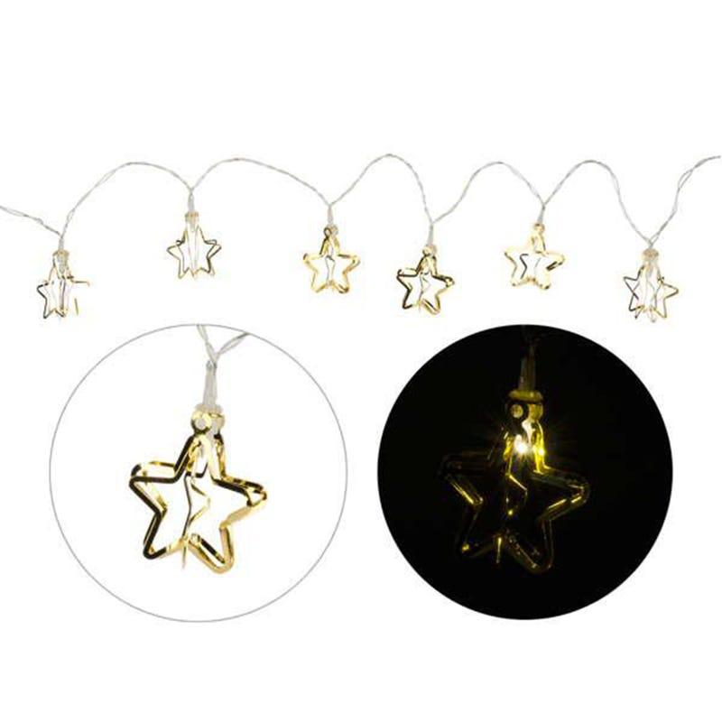 Led Star Garland - Gold