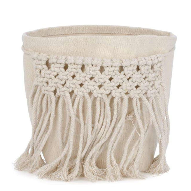 Storage Basket With Tassels