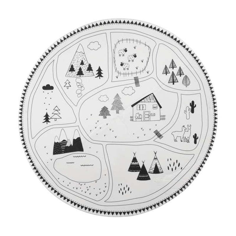 Landscape Playrug - Black/White