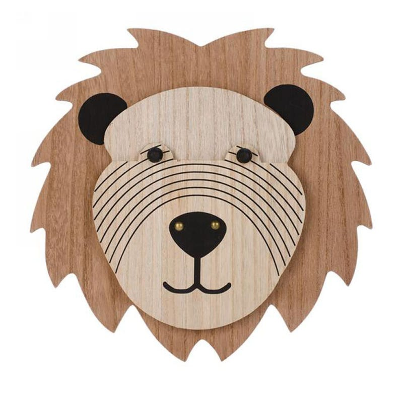 Wall Wood Decoration - Lion