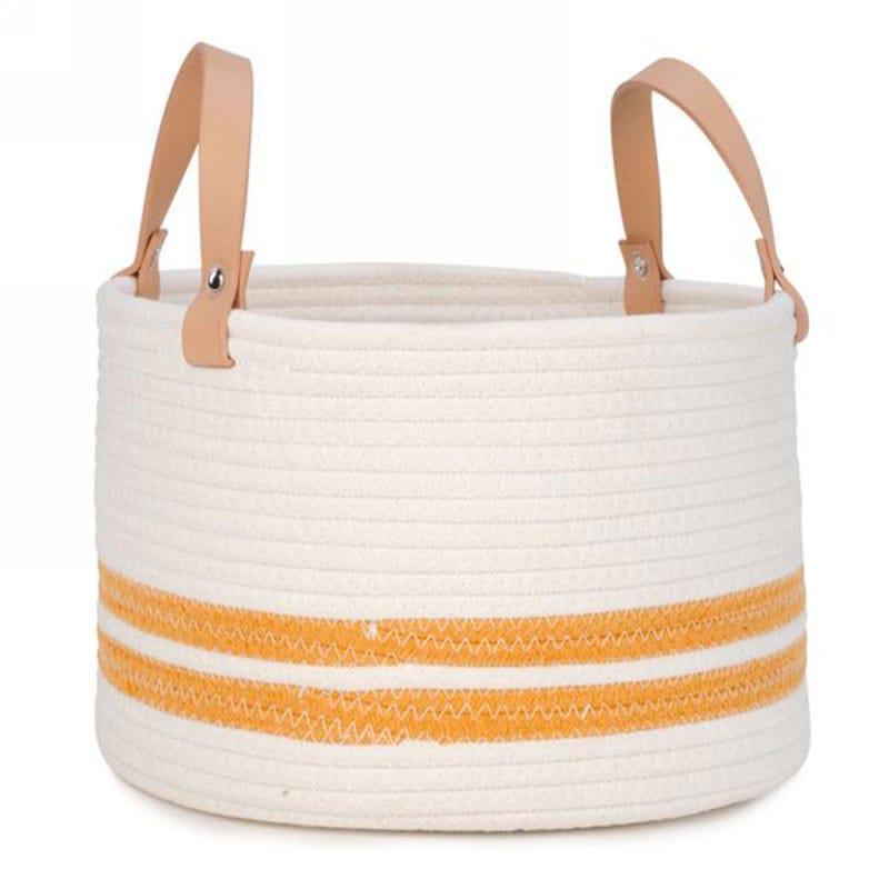 Basket - White / Yellow