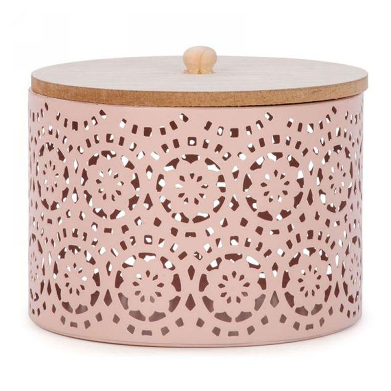 Metal Jewelry Box - Pink