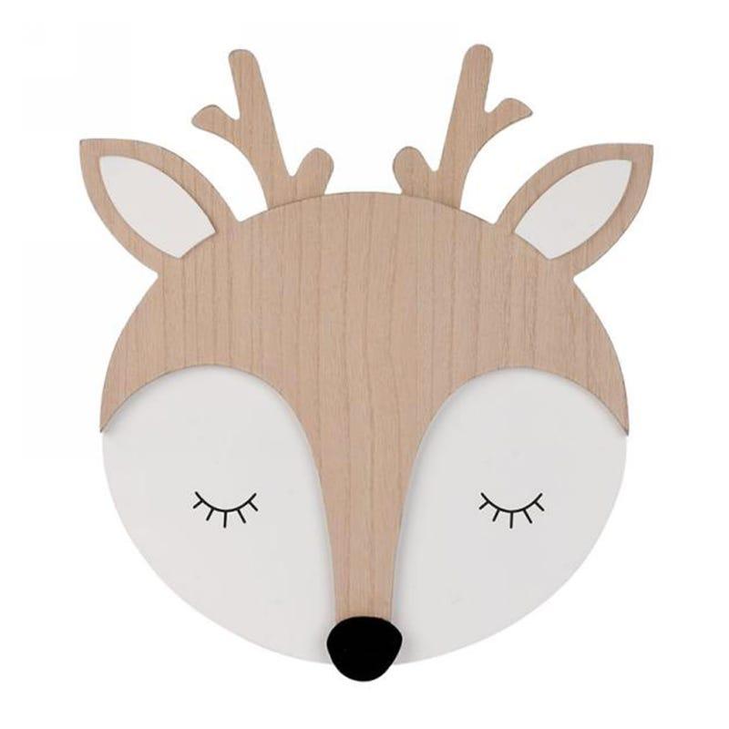 Murale Deer in Wood
