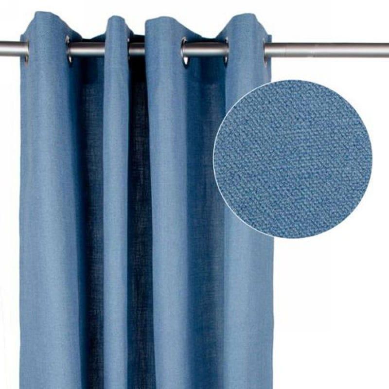 Linen Curtain - Blue