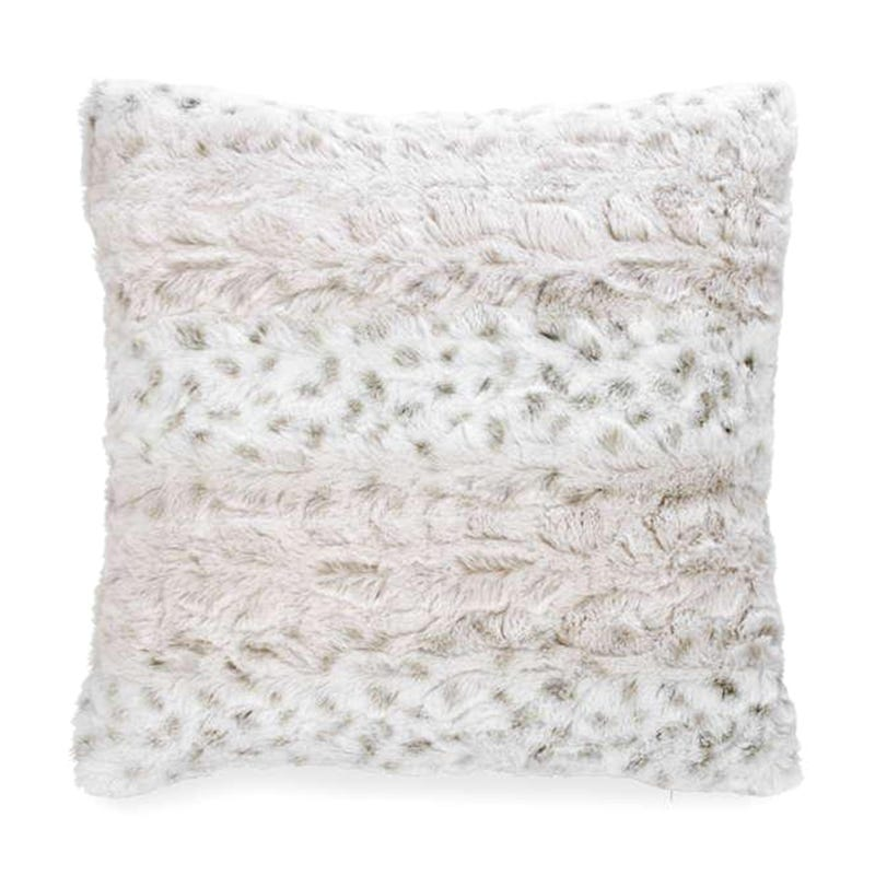 Faux Fur Cushion - Gray