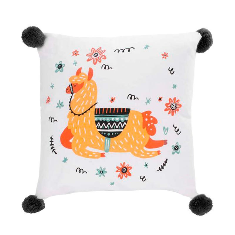 Cushion Llama With Pompons