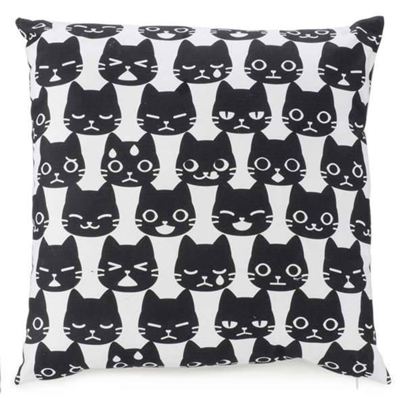 Cushion Cats Black 17 X 17
