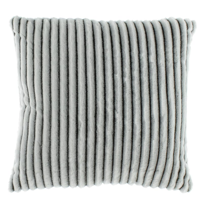 Striped Cushion - Gray