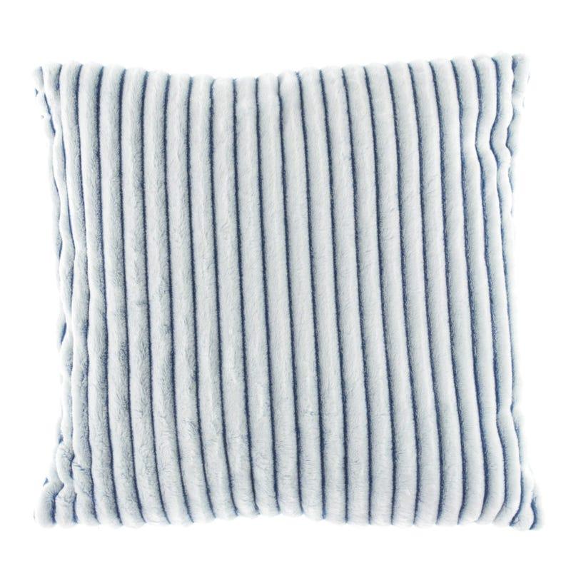 Decorative Striped Cushion - Blue