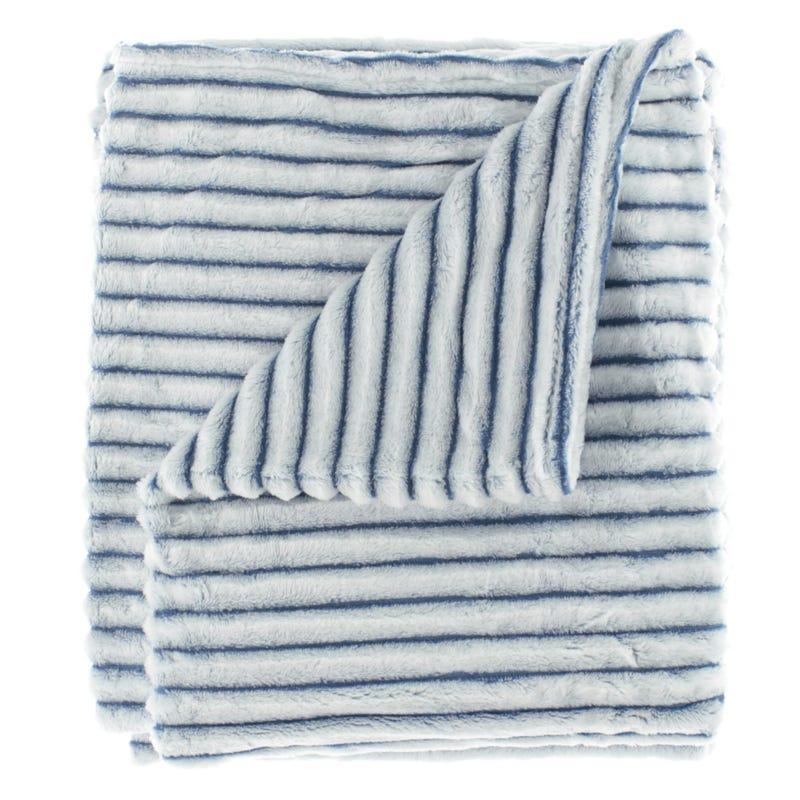 Stiped Blanket - Blue