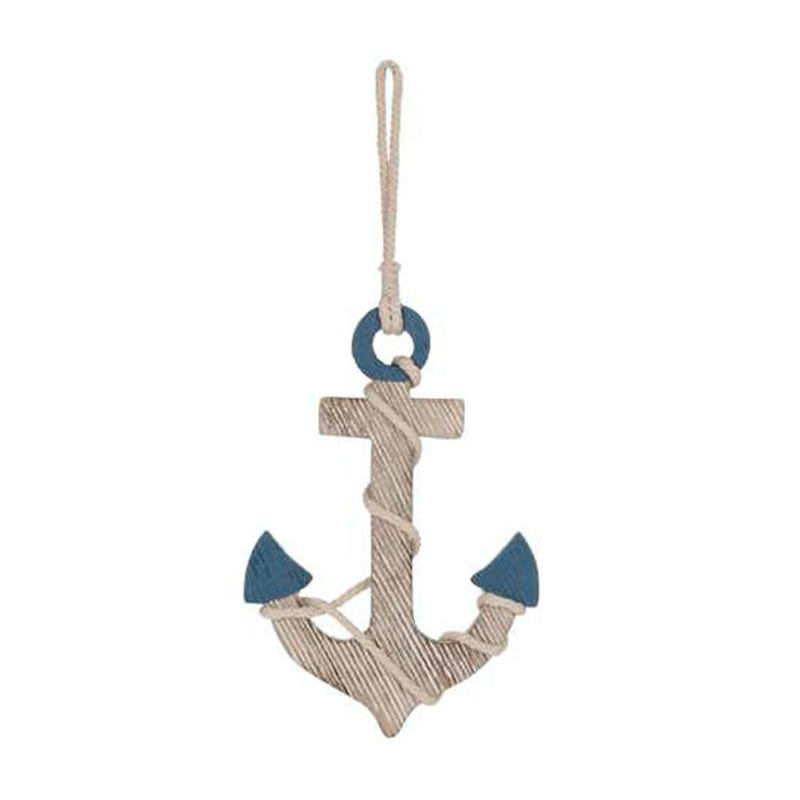 Anchor Wall Art - Blue/White