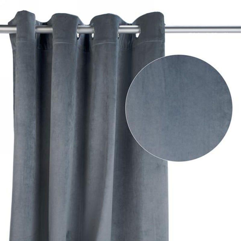 Velvet Curtain - Grey