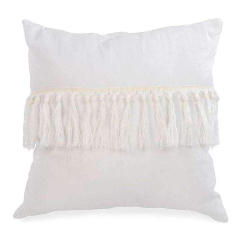 Coussin Frange - Blanc