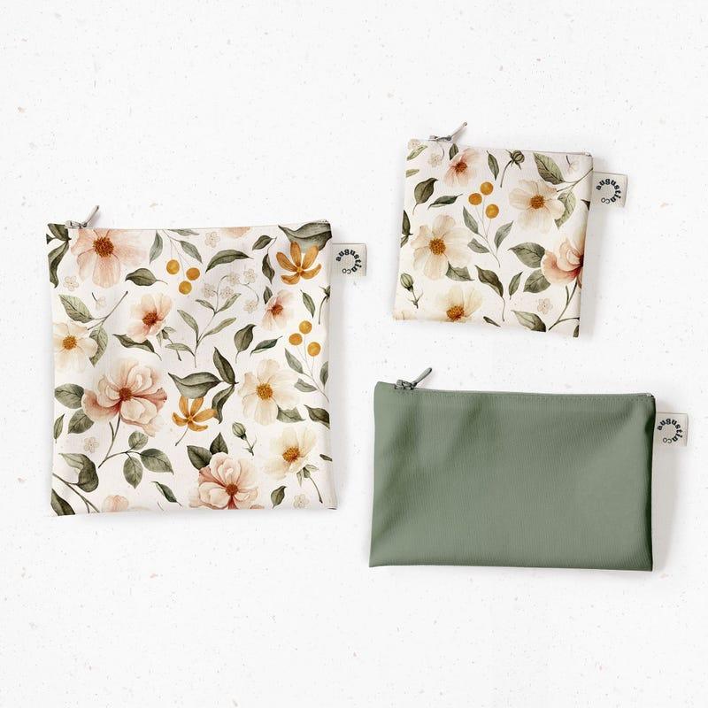 Snack Bags 3-Pack - Boho Flowers