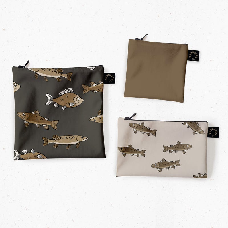 Snack Bags 3-Pack - Fish