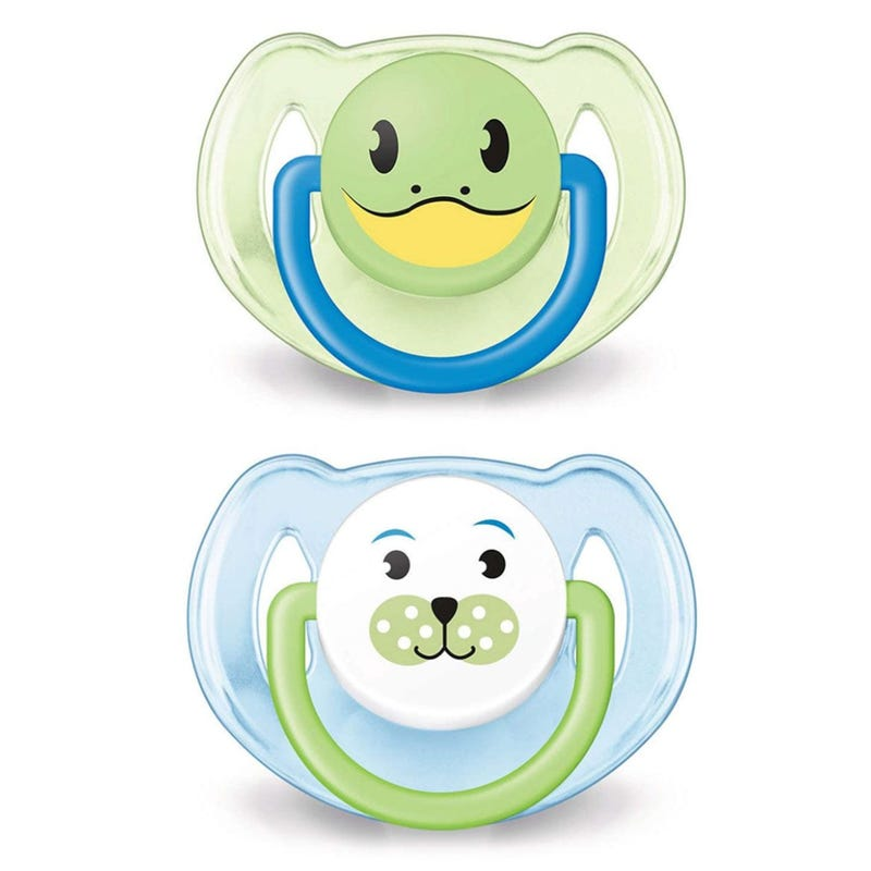 Pacifiers 6-18m 2-Pack - Animals