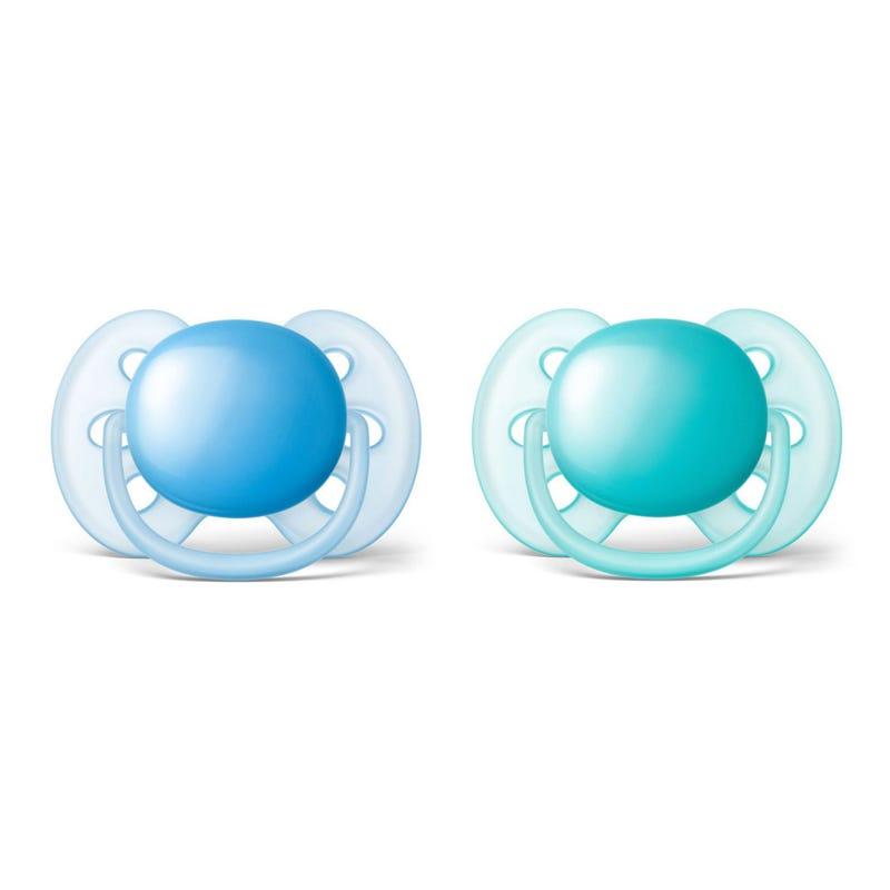 Pacifier 6-18m(2) Blue Ultra Soft