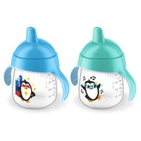 My Penguin Sippy Cup Set of 2 9oz - Black/Blue