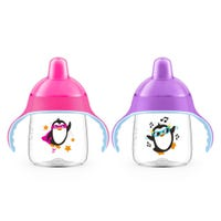 My Penguin Sippy Cup Set of 2 9oz - Pink/Purple