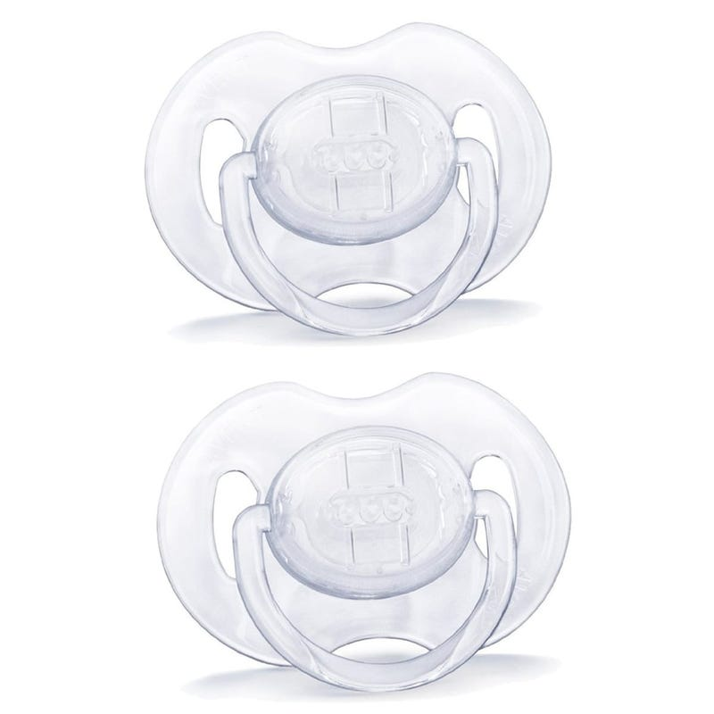 Pacifiers 6-18months Set of 2 - Plain