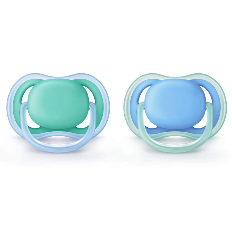 Ultra Air 6-18m Pacifier 2-Pack - Blue