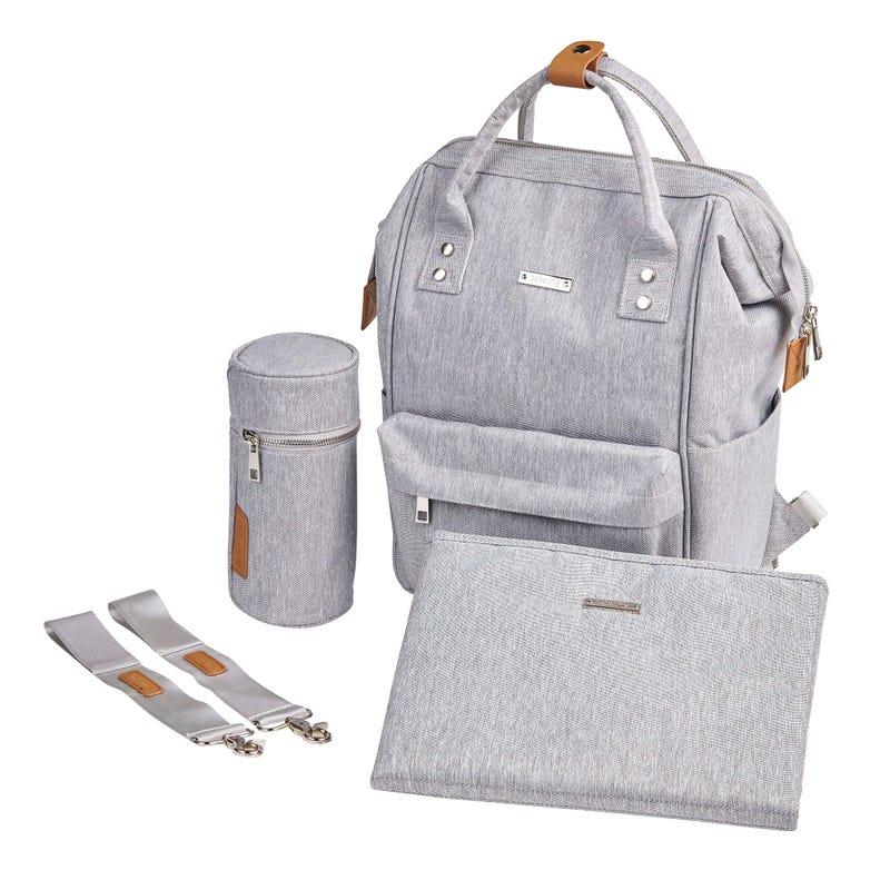 Diapers Backpack Mani - Grey Marl