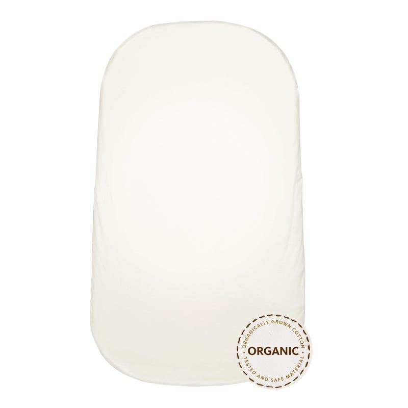 Fitted Sheet For Cradle - White Organic