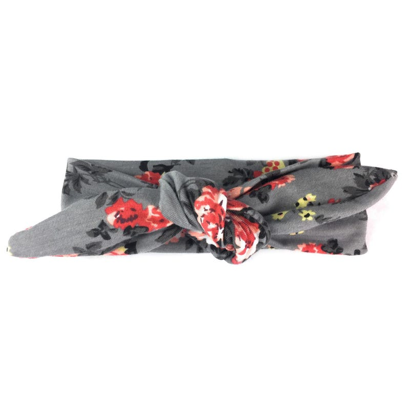 Top Knot Floral Headband 3m - Gray