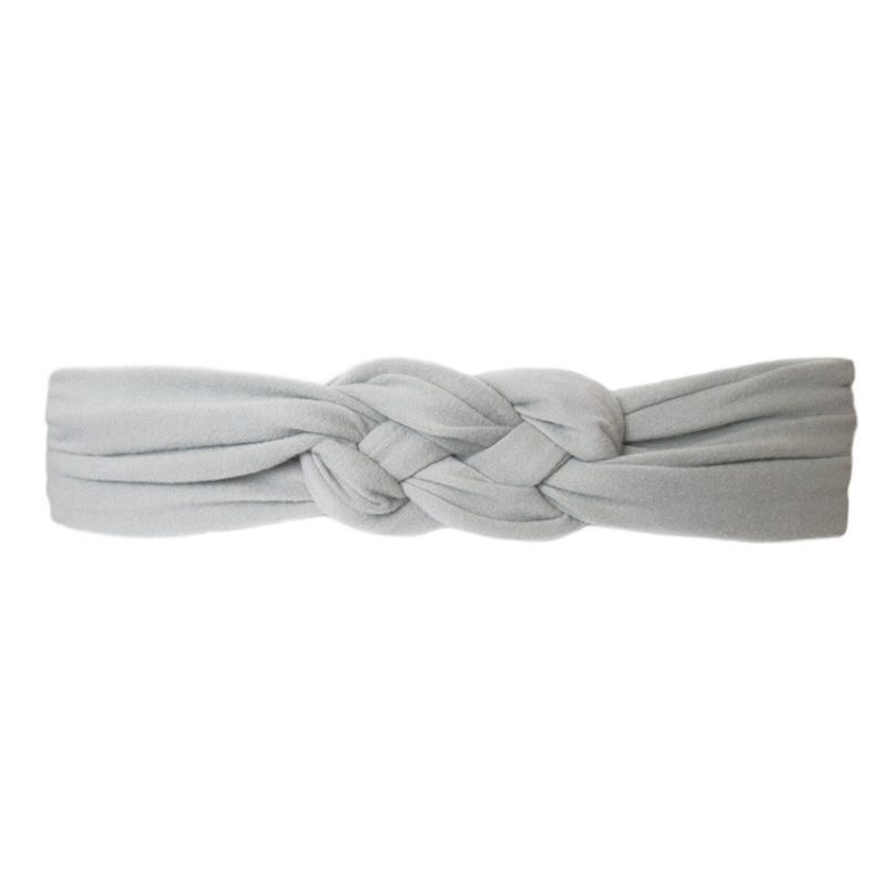 Grey Braided Headband 3m+