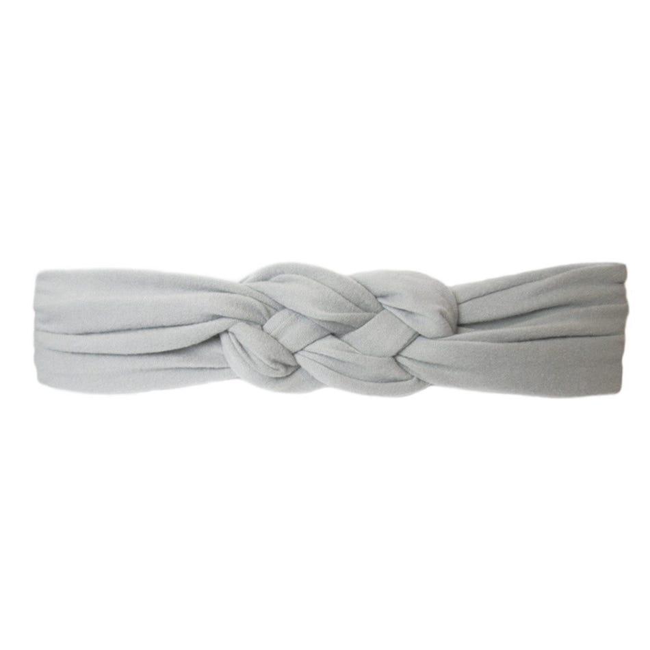 Baby Wisp Grey Braided Headband 3m+ - Clement