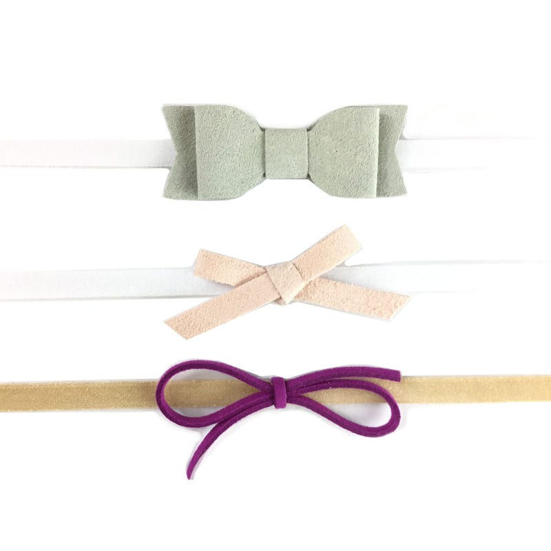 Headband 3pck Bows 3-12m+
