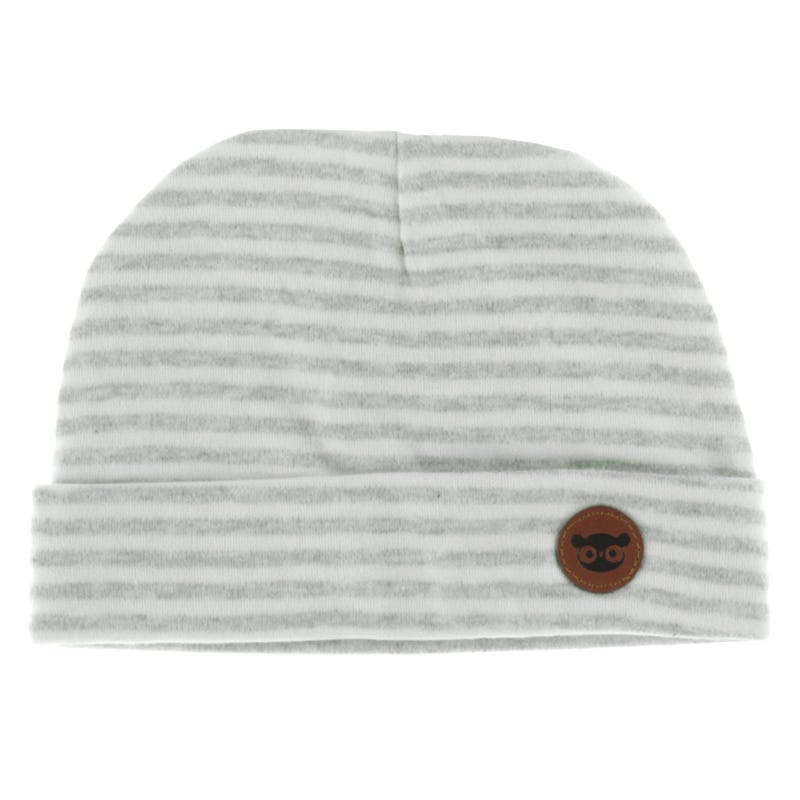 Baby Hat 0-12m - Gray Stripes