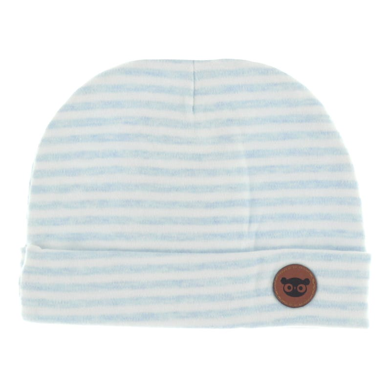 Baby Hat 0-12m - Blue Stripes