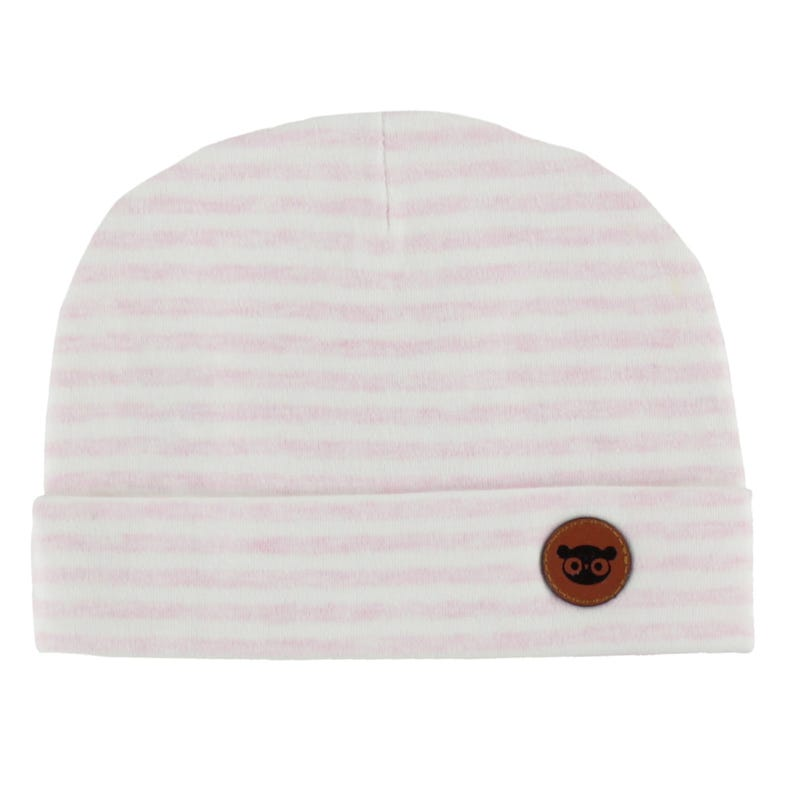 Baby Hat 0-12m - Pink Stripes