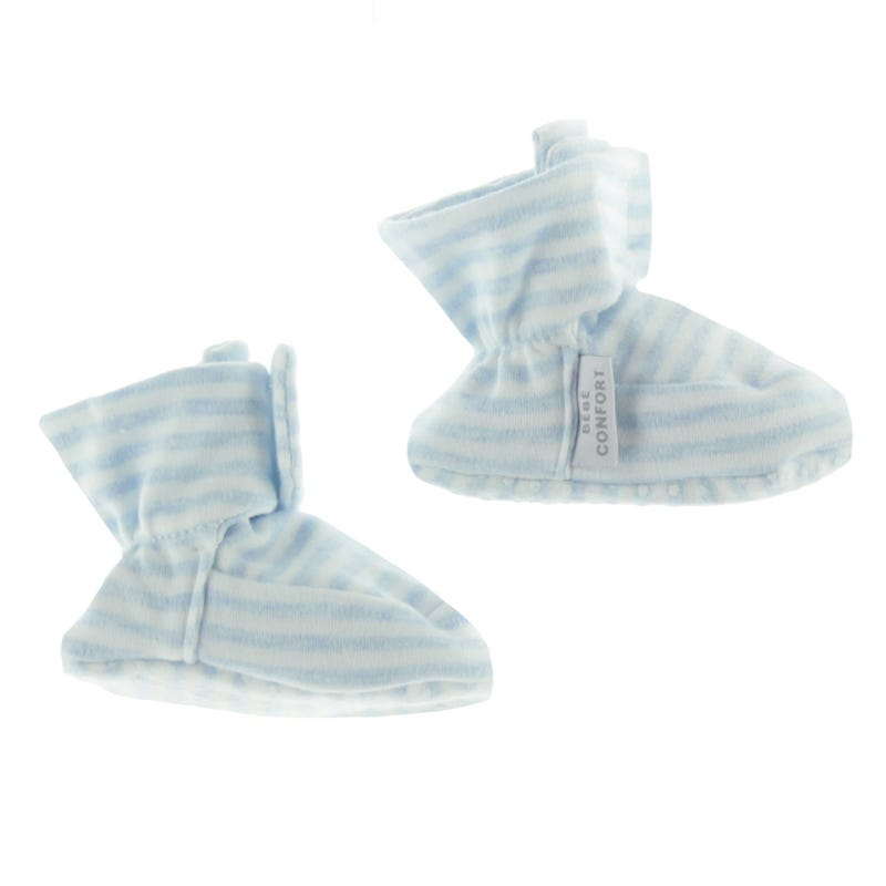 Baby Slippers 0-24m - Blue Stripes