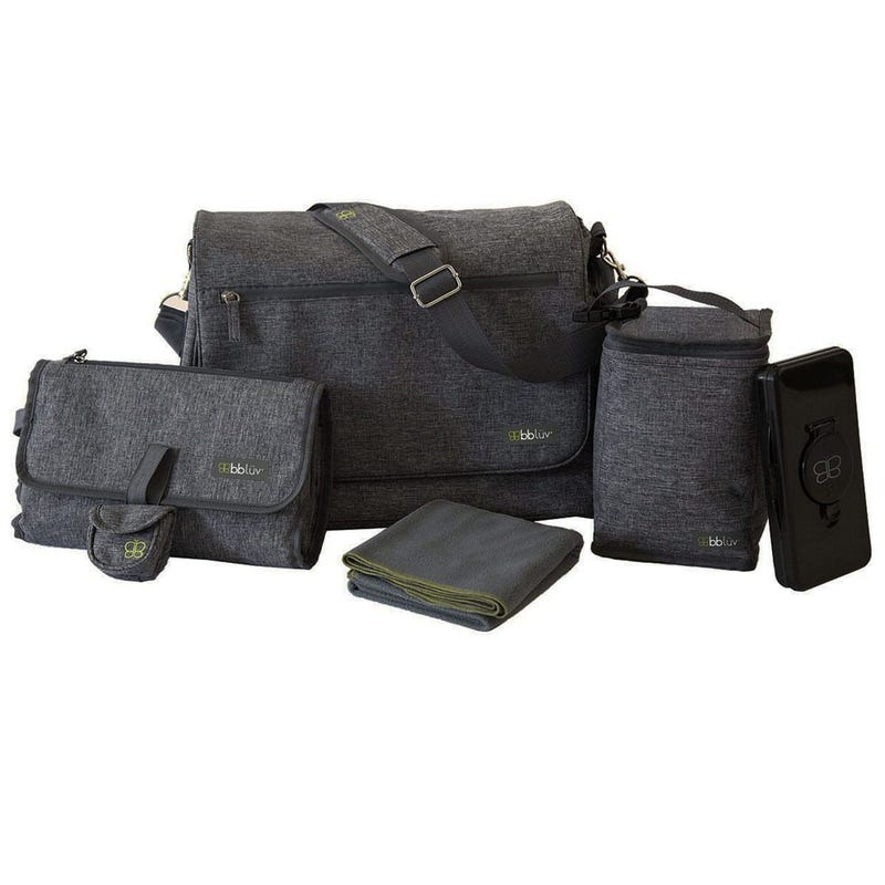 5 Pieces Diaper Bag - Gray