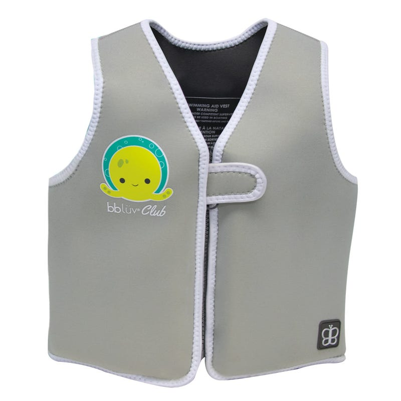 Näj Evolving Neoprene Swim Vest 3-6years - Gray