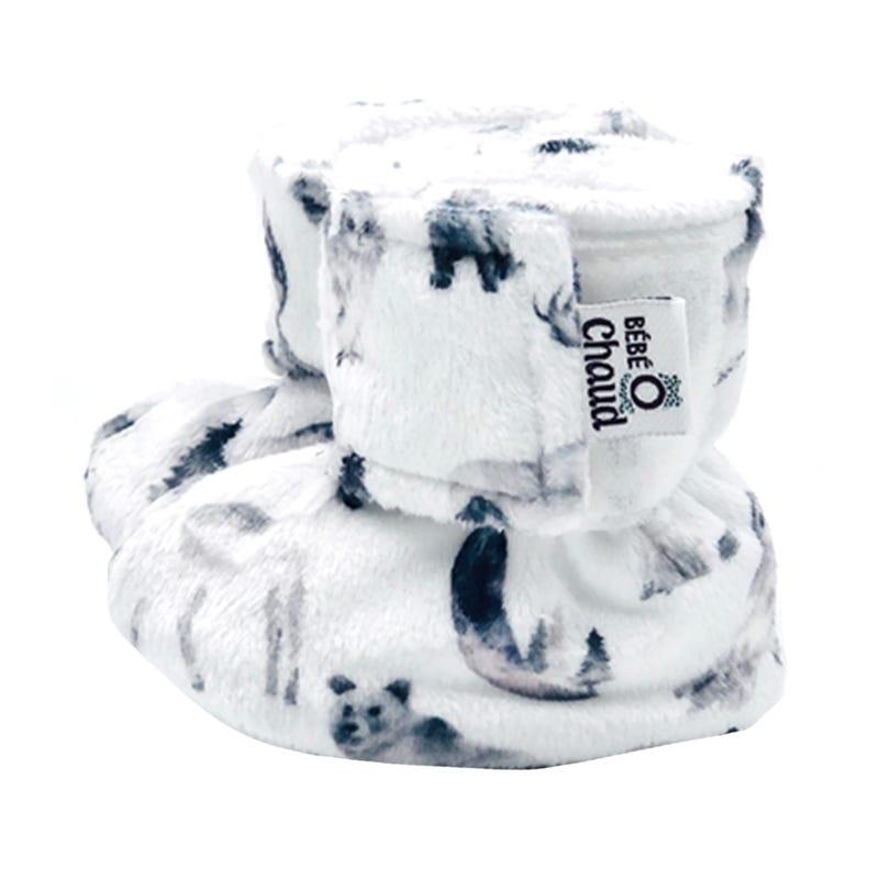 Velcro Slippers 0-6m - Animals