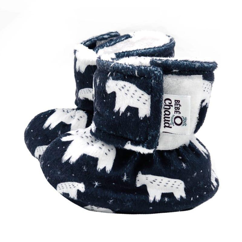 Velcro Slippers 0-6m - Bear