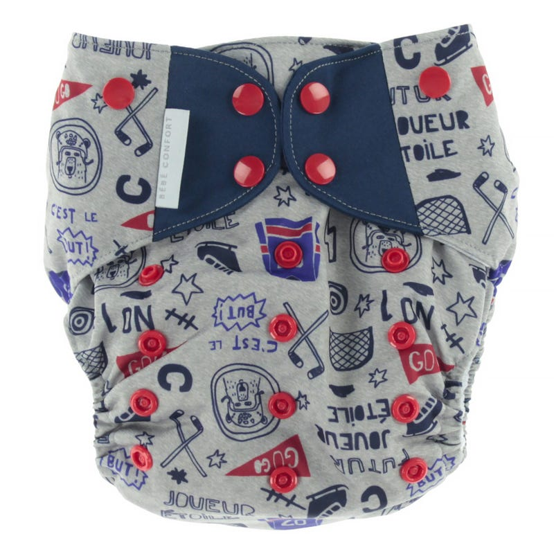Cloth Diaper 10-35lb - Hockey