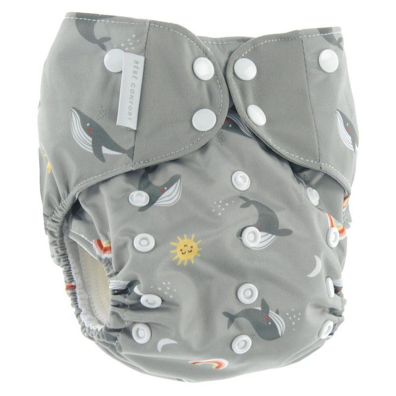 Cloth Diaper 10-35lb - Whales