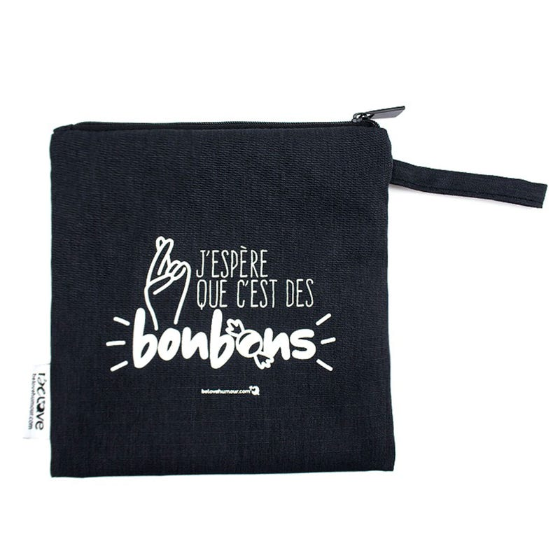 Reusable Sandwich Bag - Black Bonbons