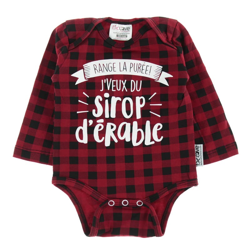 Maple Syrup Bodysuit 3-12m