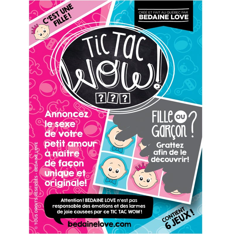 Tic Tac Wow Lottery Set of 6 - Fille