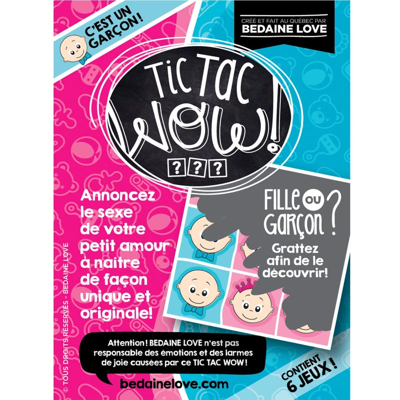 Tic Tac Wow Lottery Set of 6 - Garçon