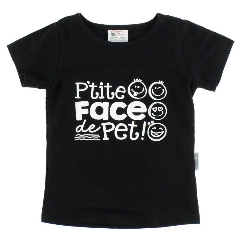 T-Shirt Face De Pet 2-3ans
