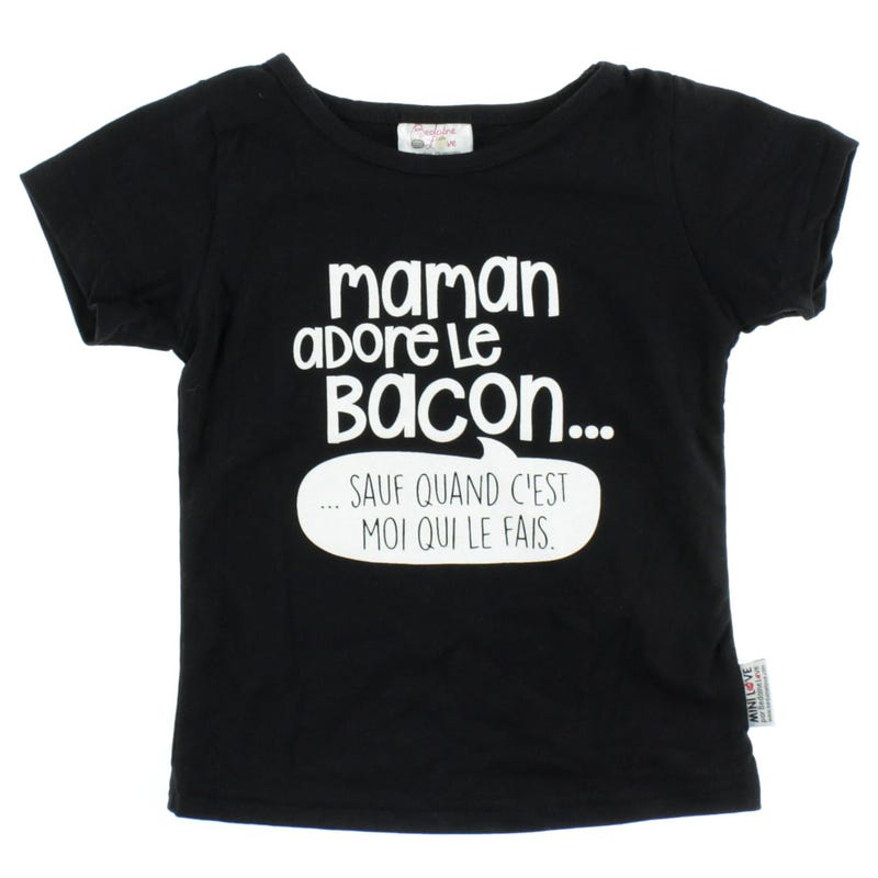 T-Shirt Bacon 12-24mois