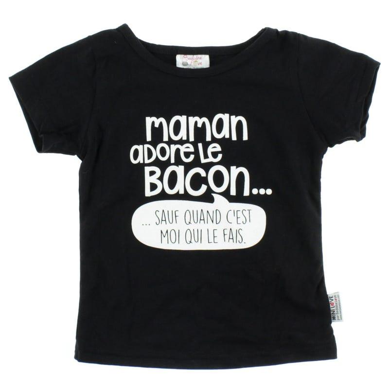 Maman Adore Le Bacon T-Shirt 12-24m
