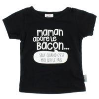 Maman Adore Le Bacon T-Shirt 2-3y